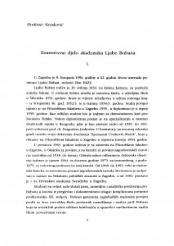 Znanstveno djelo akademika Ljube Bobana