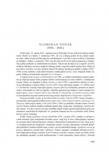 Slobodan Novak (1924.-2016.) : [nekrolog]