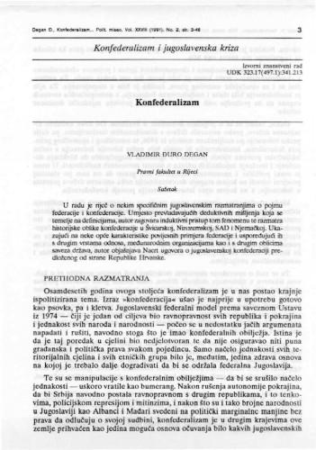 Konfederalizam : Vladimir Đuro Degan - zbirka knjiga i članaka