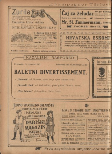 Baletni divertissement