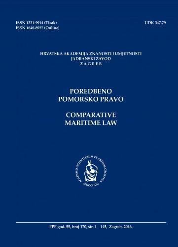 Br. 170(2016) = god. 55 : Poredbeno pomorsko pravo