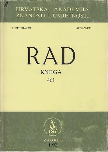 Knj. 31(1992) : RAD