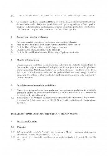 Djelatnost HMD-a u razdoblju siječanj-prosinac 2003.