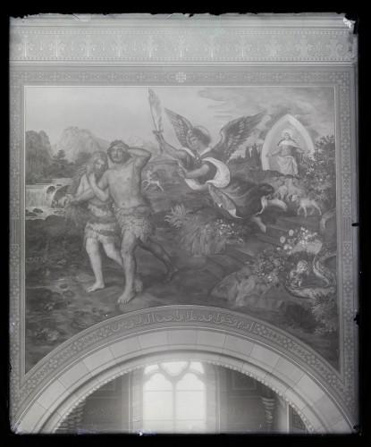 Seitz, Alexander Maximilian  : Katedrala sv. Petra (Đakovo) : Izgon iz raja, freska u brodu [C. Angerer & Göschl  ]