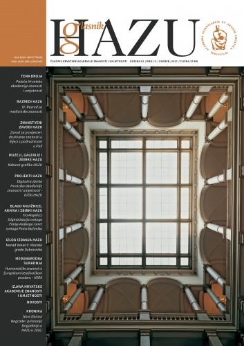 Godina III., broj 5., siječanj-prosinac 2016. : Glasnik HAZU : časopis Hrvatske akademije znanosti i umjetnosti