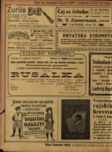 Rusalka Opera u tri čina