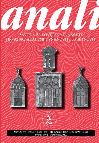 Sv. 55/2 (2017) : Anali Zavoda za povijesne znanosti Hrvatske akademije znanosti i umjetnosti u Dubrovniku