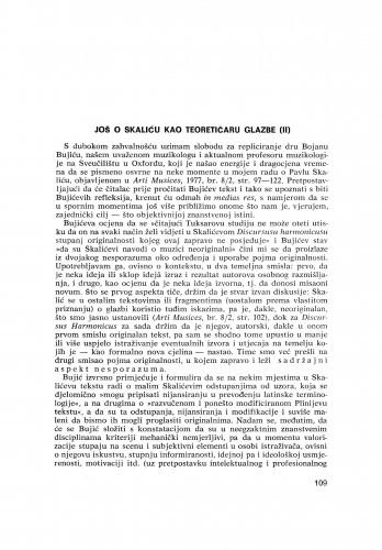 Još o Skaliću kao teoretičaru glazbe (II)