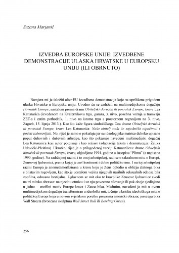Izvedba Europske unije: izvedbene demonstracije ulaska Hrvatske u Europsku uniju (ili obrnuto)