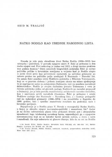 Natko Nodilo kao urednik Narodnog lista