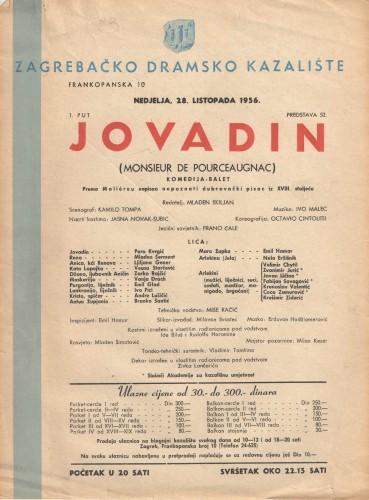 Jovadin Komedija - balet  =  Monsieur de Pourceaugnac