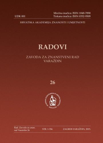 Knj. 26 (2015) : Radovi Zavoda za znanstveni rad Varaždin