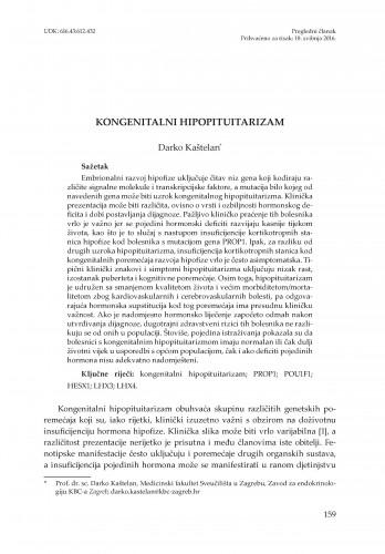 Kongenitalni hipopituitarizam