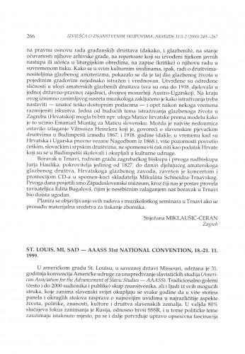 AAASS 31st National Convention, St. Louis, Mi., SAD, 18.-21.11.1999.