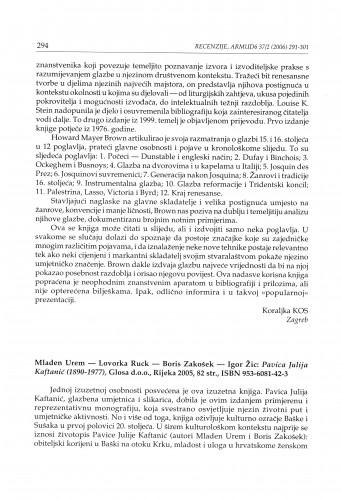 Mladen Urem - Lovorka Ruck - Boris Zakošek - Igor Žic: Pavica Julija Kaftanić (1890-1977), Glosa, Rijeka 2005. : [prikaz]