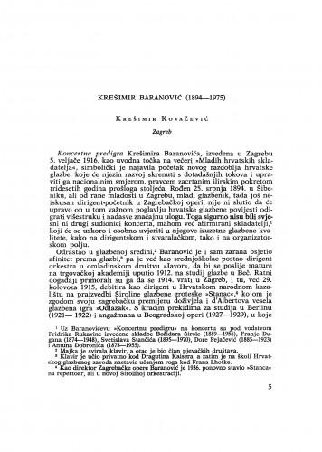 Krešimir Baranović (1894-1975)