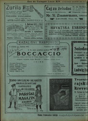 Boccaccio Komična opera u tri čina / Glazba od Suppéa
