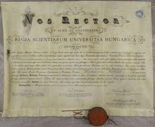 Diploma doktora medicine Vladimira Katičića