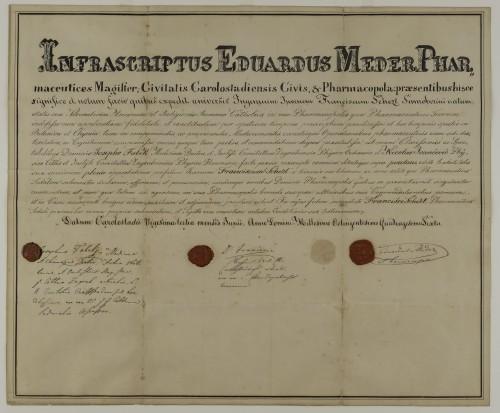 Tirocinijska diploma Franje Schezta