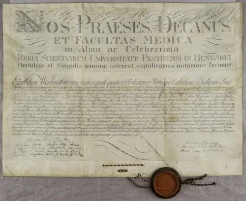 Diploma magistra farmacije Eduarda Wormastinija