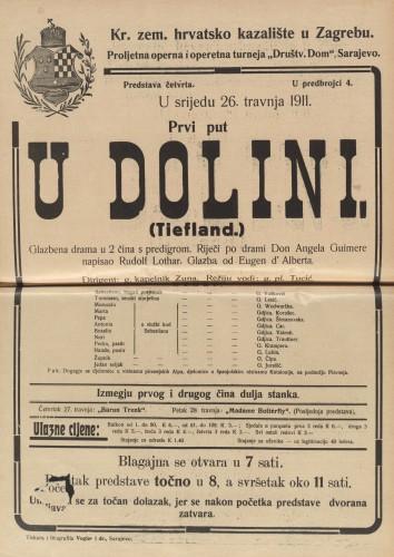 U dolini : Glazbena drama u 2 čina s predigrom  =  Tiefland
