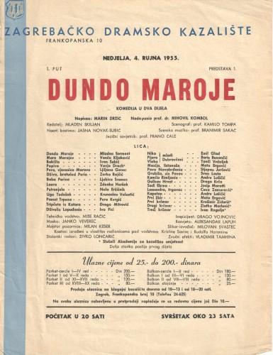 Dundo Maroje Komedija u dva dijela