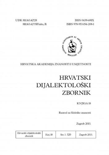 Knj. 18(2013) : Hrvatski dijalektološki zbornik