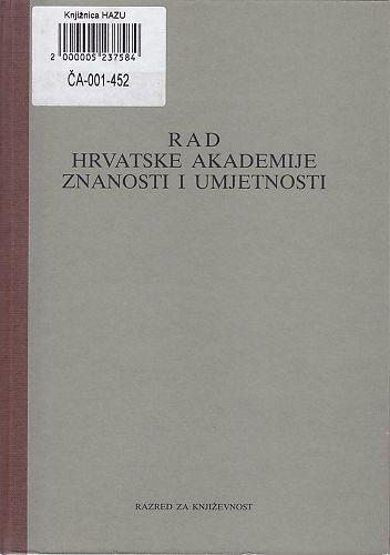 Knj. 24(1991) : RAD