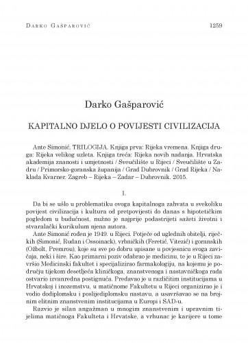 Kapitalno djelo o povijesti civilizacija