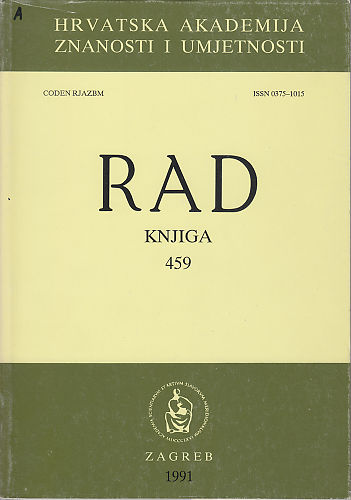 Knj. 30(1991) : RAD