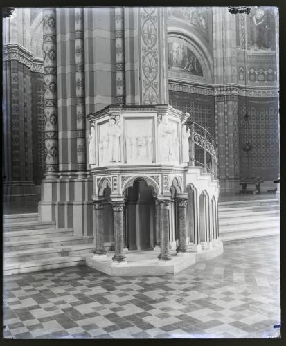 Schmidt, Friedrich von ; Donegani, Vatroslav(1836-7-28 1899-7-3): Katedrala sv. Petra (Đakovo) : Propovjedaonica [C. Angerer & Göschl]