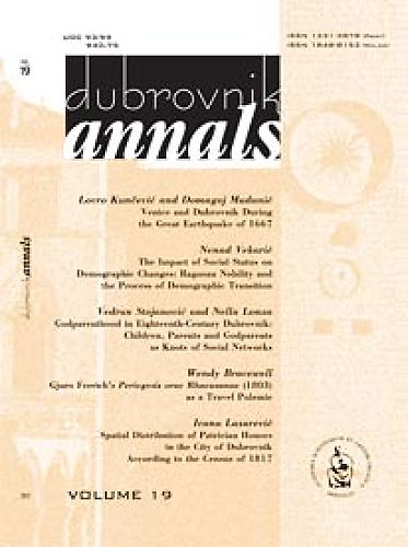 Vol. 19 (2015) : Dubrovnik Annals