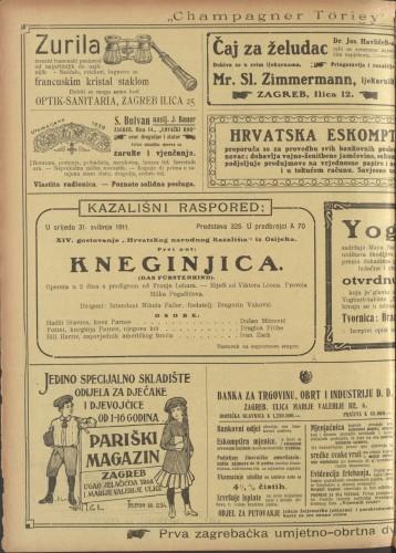 Kneginjica  =  Das Fürstenkind : Opereta u 2 čina s predigrom
