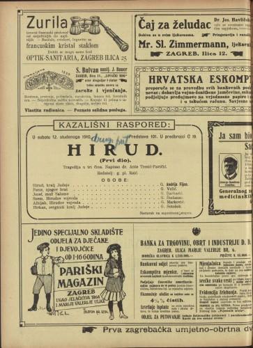 Hirud (Prvi dio.) Tragedija u tri čina