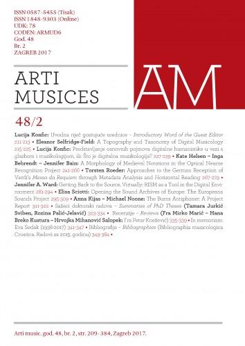 God. 48(2017), br. 2 : Arti musices
