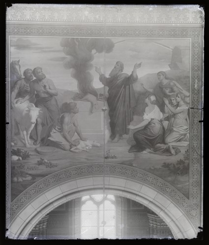 Ansiglioni, Achille  : Katedrala sv. Petra (Đakovo) : Noino žrtvovanje, freska u brodu [C. Angerer & Göschl  ]