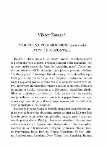Pogledi na postmodernu (nastavak) : otpor horizontali