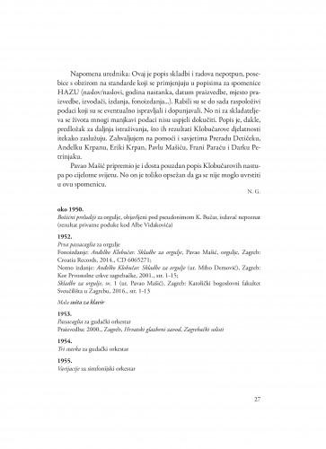 Popis skladbi i radova akademika Anđelka Klobučara