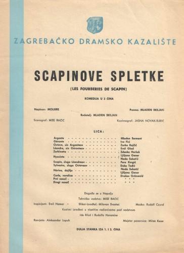 Scapinove spletke : Komedija u 3 čina  =  Les Fourberies de Scapin