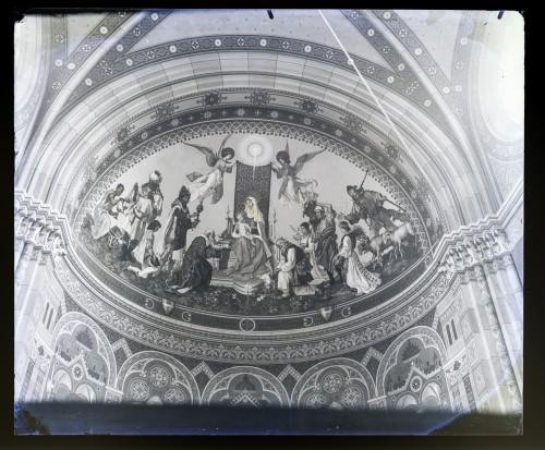 Seitz, Ludovico - Ludwig (1844) : Katedrala sv. Petra (Đakovo) : Poklonstvo kraljeva i pastira, freska u lijevoj apsidi transepta [C. Angerer & Göschl  ]