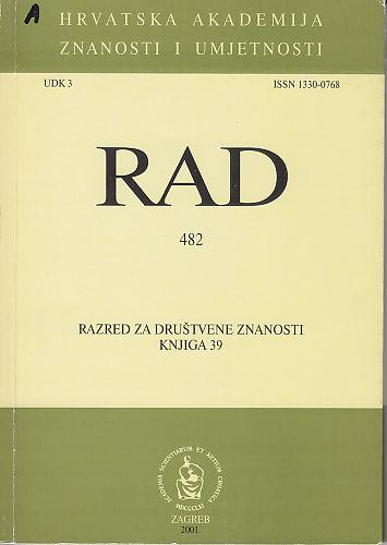 Knj. 39(2001) : RAD
