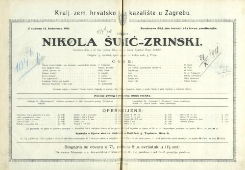 Nikola Šubić-Zrinski Glazbena slika u tri čina (sedam slika)