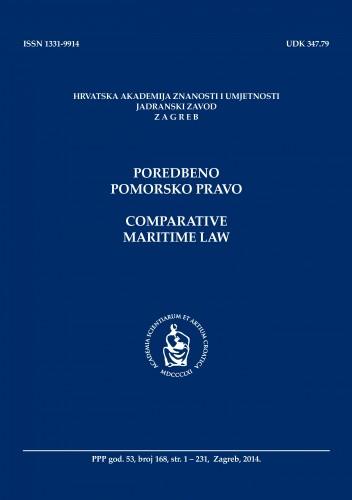 Br. 168(2014) = god. 53 : Poredbeno pomorsko pravo