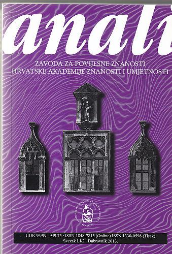 Sv. 51/2 (2013) : Anali Zavoda za povijesne znanosti Hrvatske akademije znanosti i umjetnosti u Dubrovniku