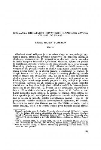 Izdavačka djelatnost Hrvatskog glazbenog zavoda od 1862. do danas