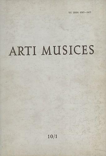 God. 10(1979), br. 1 : Arti musices