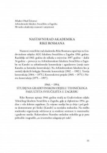 Nastavni rad akademika Rike Rosmana