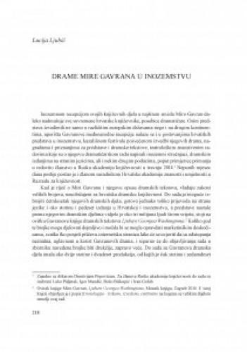 Drame Mire Gavrana u inozemstvu