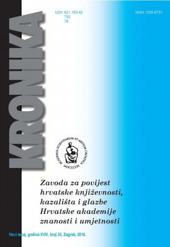 N. t. god. 18, br. 33(2016) : Kronika Zavoda za povijest hrvatske književnosti, kazališta i glazbe HAZU