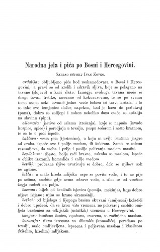 Narodna jela i pića po Bosni i Hercegovini / I. Zovko